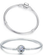 Fashionable and timeless sterling silver snake bracelets and bangles suitable for Pandora, Tedora, Trollbeads and all other charms!