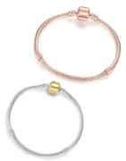 Bracciali con maglia snake placcati in argento sterling di alta qualità, adatto per charms e pendenti Pandora, Tedora, Trollbeads e altri marchi di charms.