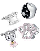 Charms en argent appropriés pour bracelets Pandora, Tedora, Trollbeads et toutes les autres marques!