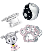 Beautiful sterling silver charms suitable for Pandora, Tedora, Trollbeads and othet brands charm bracelets!