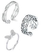Anillos modernos de plata esterlina para su boda, compromiso, cumpleaños o para hacerse un bonito regalo a sí mismo.
