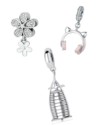 Beautiful sterling silver pendant charms suitable for Pandora, Tedora, Trollbeads and all other charm bracelets!