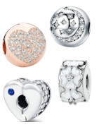 Beautiful sterling silver clips suitable for Pandora, Tedora, Trollbeads and all other charm bracelets!