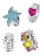 Espaceurs en argent appropriés pour bracelets Pandora, Tedora, Trollbeads et toutes les autres marques!