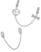 Beautiful sterling silver safety chain suitable for Pandora, Tedora, Trollbeads and all other charm bracelets!