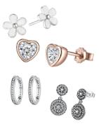 Trendy zilveren oorbellen voor uw trouwerij, verloving, verjaardag of om uzelf even lekker te verwennen!