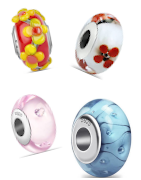 The most beautiful murano glass charms suitable for Pandora, Tedora, Trollbeads and all other charm bracelets!